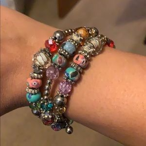 Beautiful beaded wrap bracelet